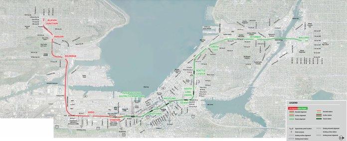 ST3 Representative Project alternative alignment. (Sound Transit)