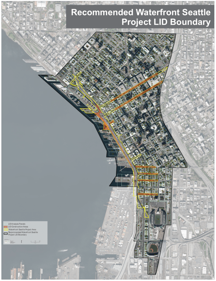 Map of the LID boundary. (City of Seattle)