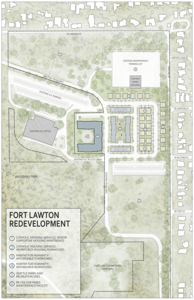 The Fort Lawton redevelopment plan. (City of Seattle)