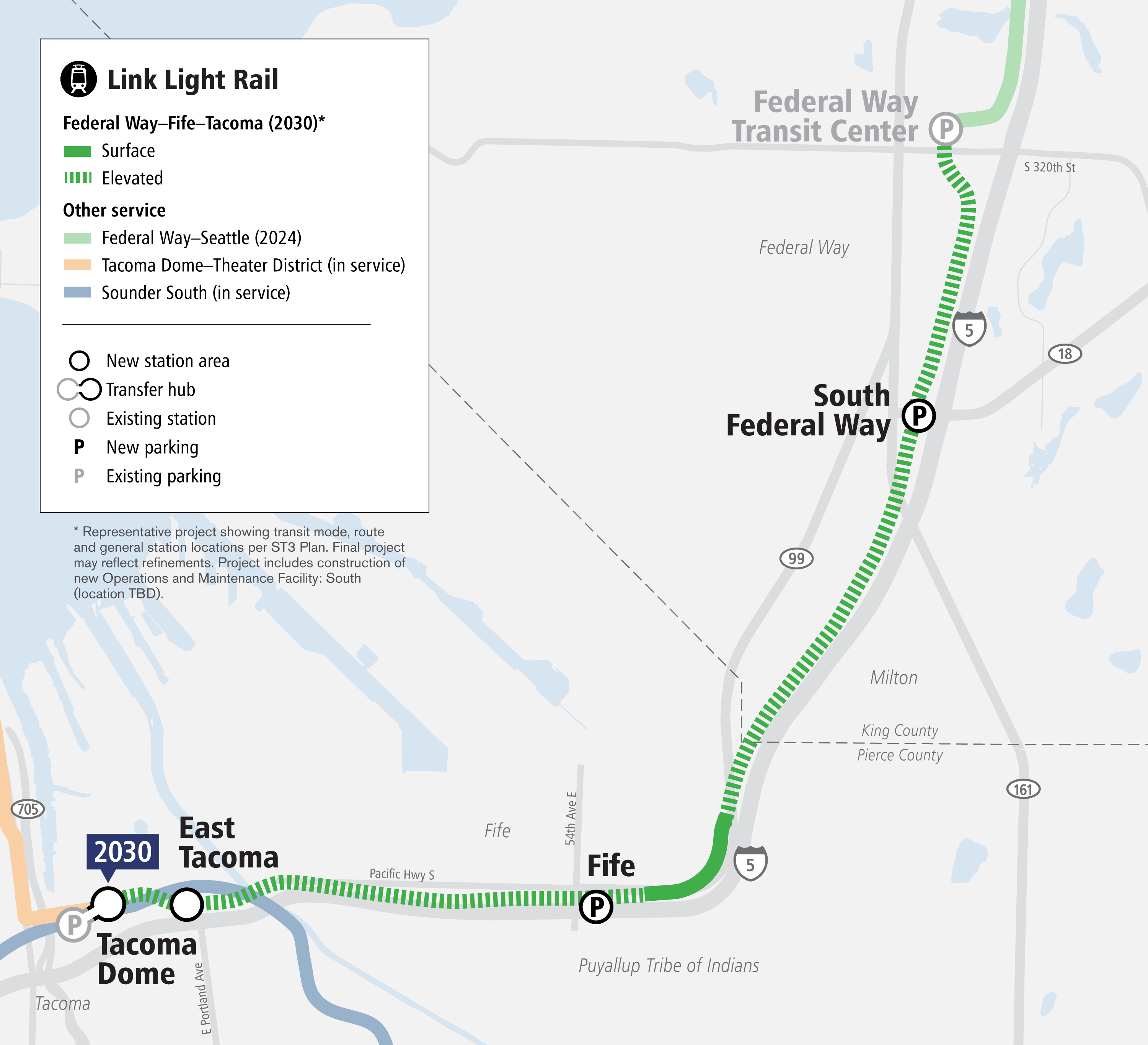 Tacoma Link Light Rail Map