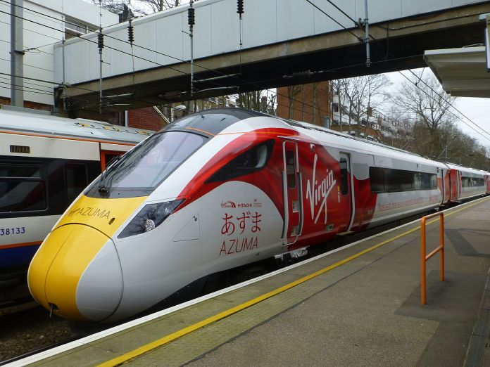 Virgin Trains East Coast Azuma Class 800 at Hampstead Heath station in London. (Wikipedia / Spsmiler)