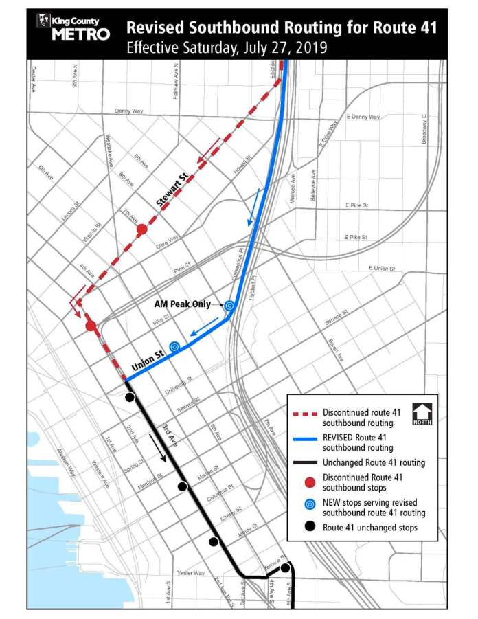 Metro's planned revision for Route 41. (King County)