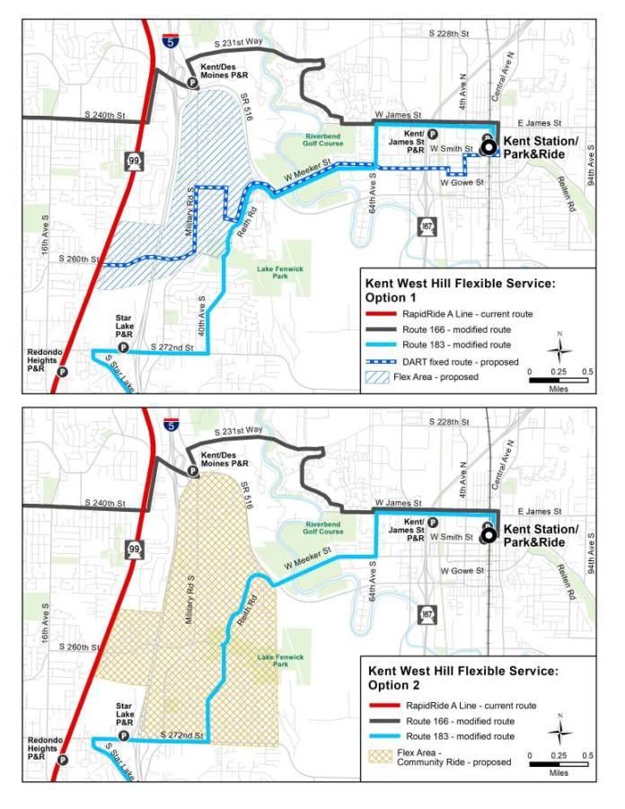 Flexible service concepts for the West Hill area. (King County)