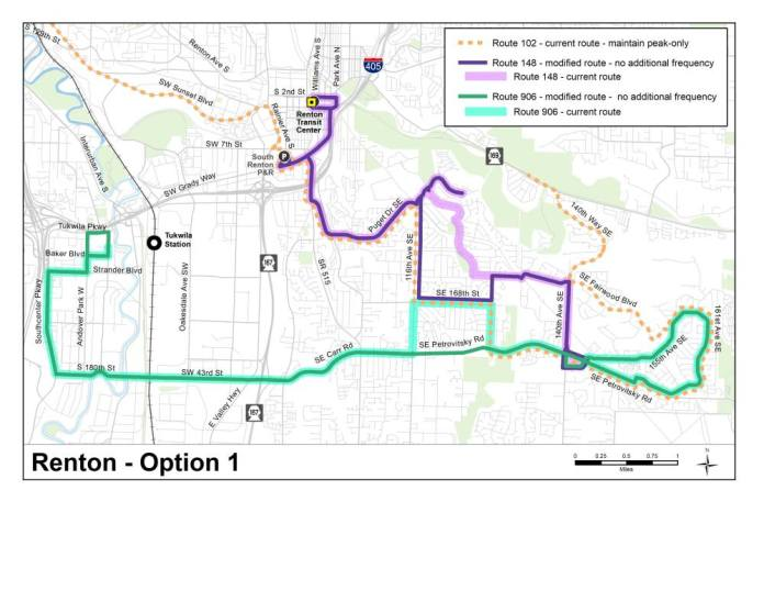 Option 1 for the Fairwood area. (King County)