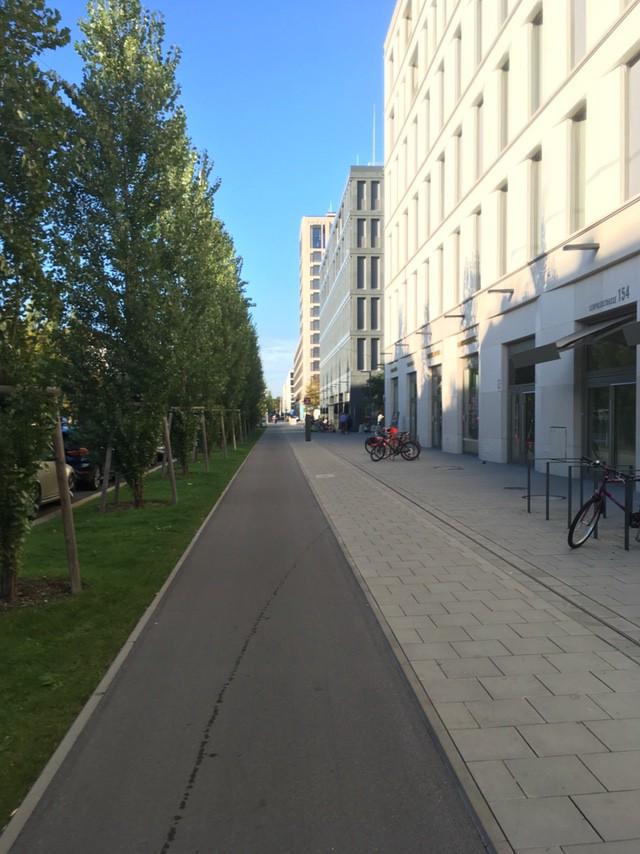 Bike lane on an arterial street. Swoon. (Mike Eliason)