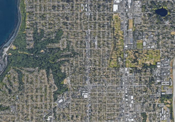 Aerial of North Seattle.