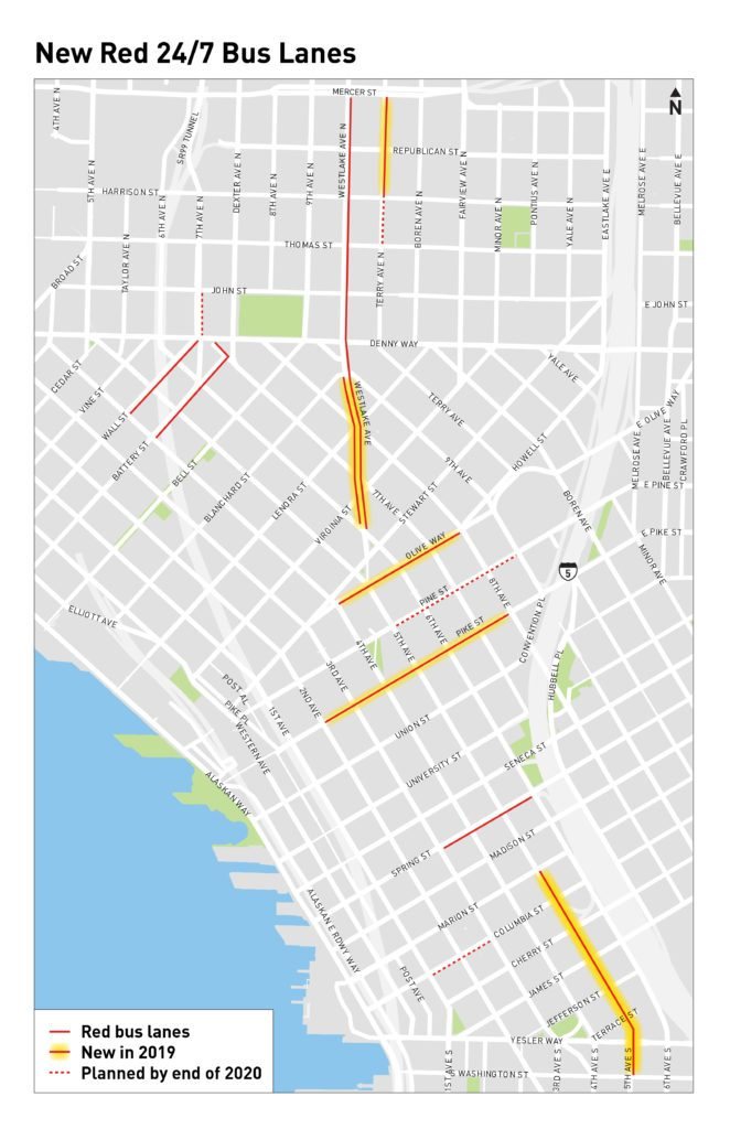 Seattle Should Paint These 9 Bus Lanes within a Year