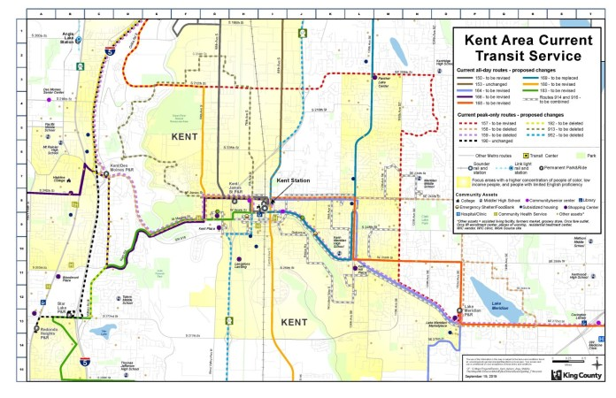 Existing Kent bus route network. (King County)