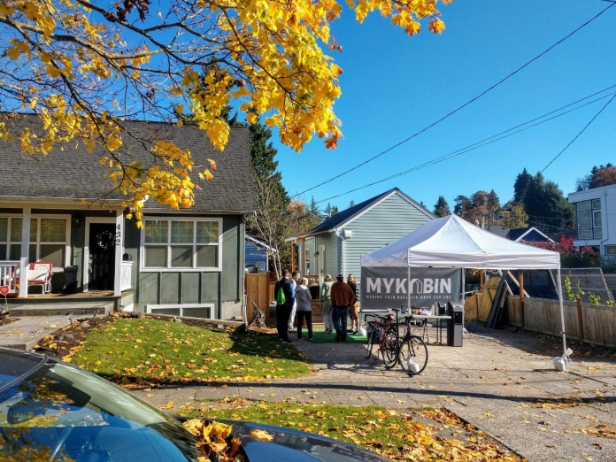 The October MyKabin open house at the Cunningham house drew plenty of interest.