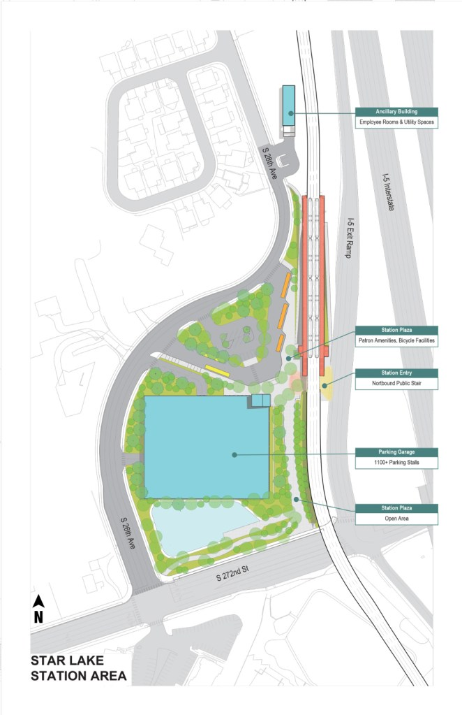 Current site plan for the S 272nd St station. (Sound Transit)