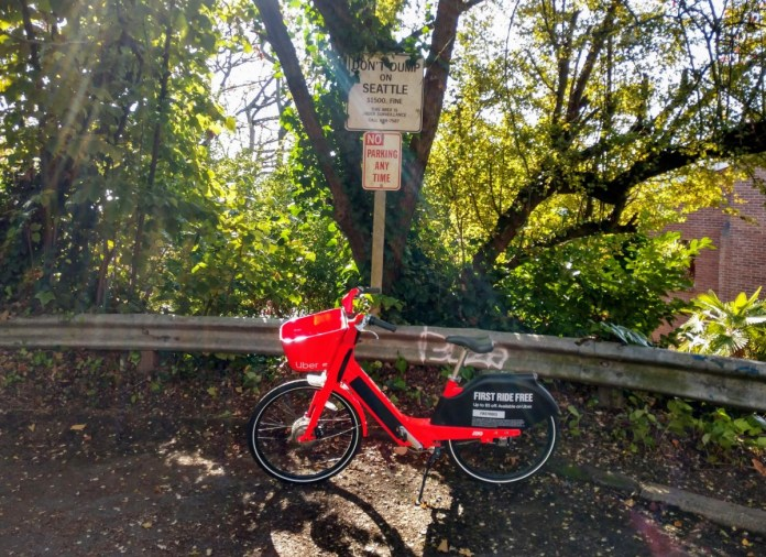 JUMP is the only bikeshare operator in Seattle as of 2020. (Photo by author)