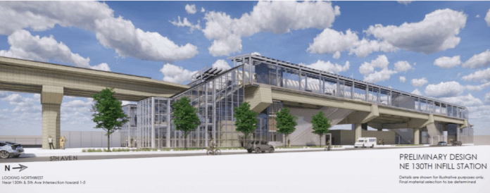 130th Station Station could open in 2025 with this integrated design. (Sound Transit)