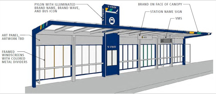 The updated branding for Stride stations. (Sound Transit)
