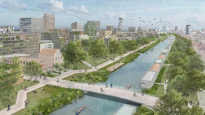 A perspective of Merwede district of Utrecht, Netherlands, (Credit: marco.broekman and OKRA)