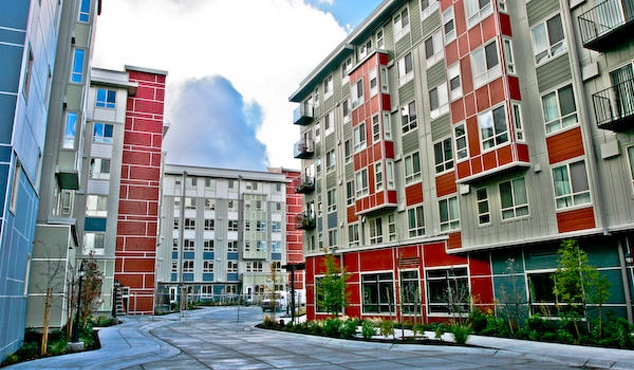 BRIDGE Housing owns two properties in King County, including the 474-unit Tressa complex in Bitter Lake. (Credit: BRIDGE)