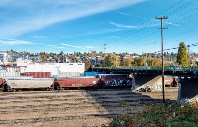 BNSF Railyard in Interbay. (Photo by Doug Trumm)