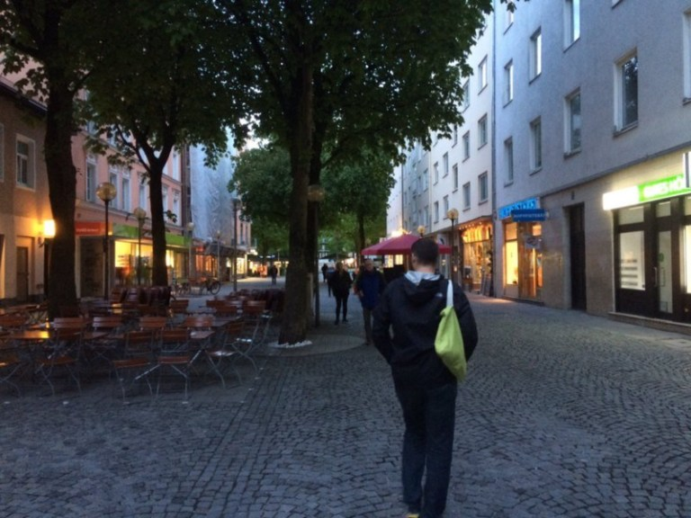 Easy to social distance on pedestrian streets.