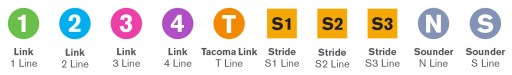 New Sound Transit branding and name by service and line. (Sound Transit)