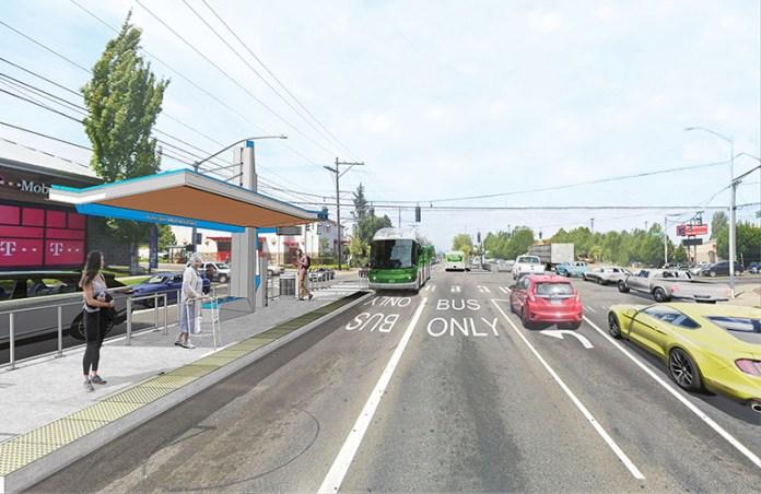 Daytime rendering of the suspension station option. (Pierce Transit)