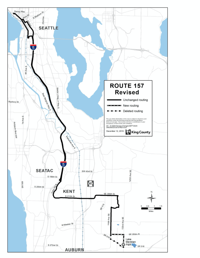 Revised Route 157. (King County)