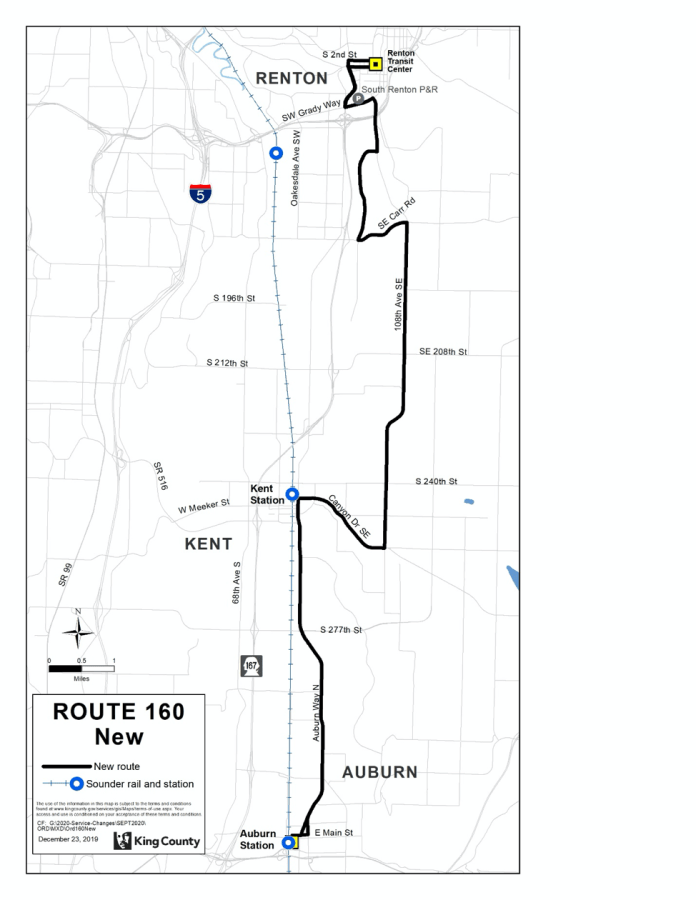 New Route 160. (King County)