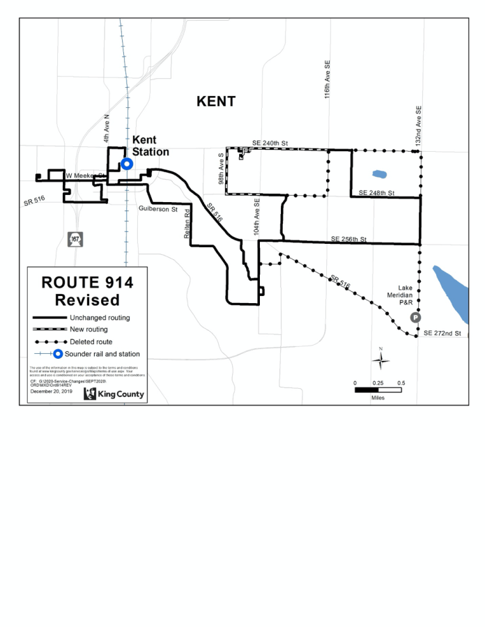 Revised Route 914. (King County)