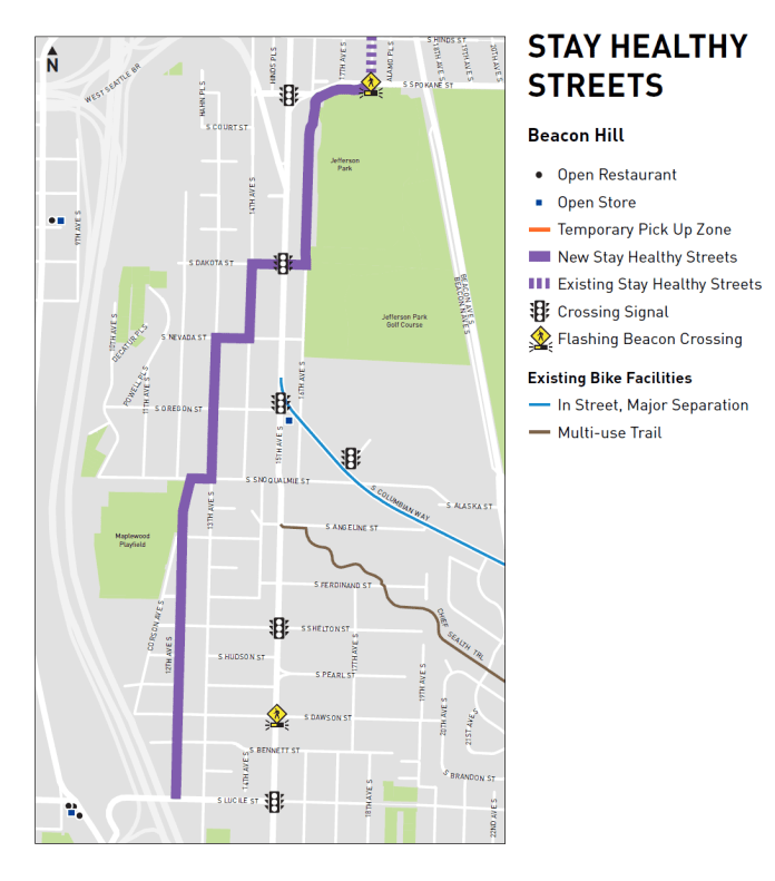 The Beacon Hill extension will take the existing facility south to Lucille Street alongside Jerfferson Park. (SDOT)
