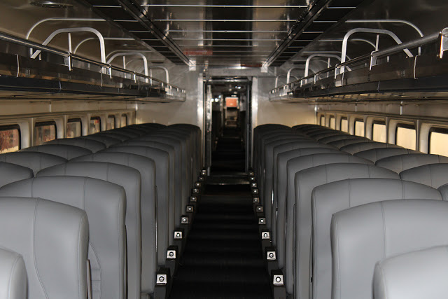 The typical interior of Horizon Series train cars. (WSDOT)