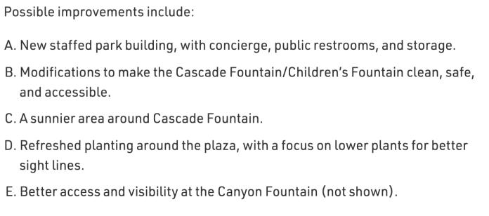 Seneca Plaza priorities. (City of Seattle)