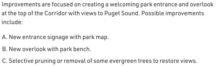 Pigott Corridor priorities. (City of Seattle)