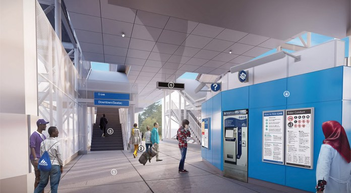 Interior rendering of the station. Courtesy of Sound Transit