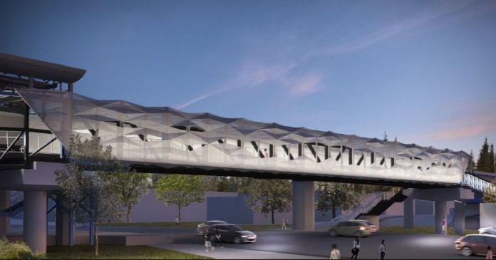 Concept design of NE 8th Street Bridge. (Courtesy of King County)