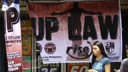 UP Law Bar Ops stationed at a store that offers photocopying services