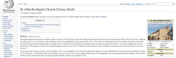 Wiki article