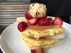 Five Leaves Ricotta Pancakes with Banana Inside
