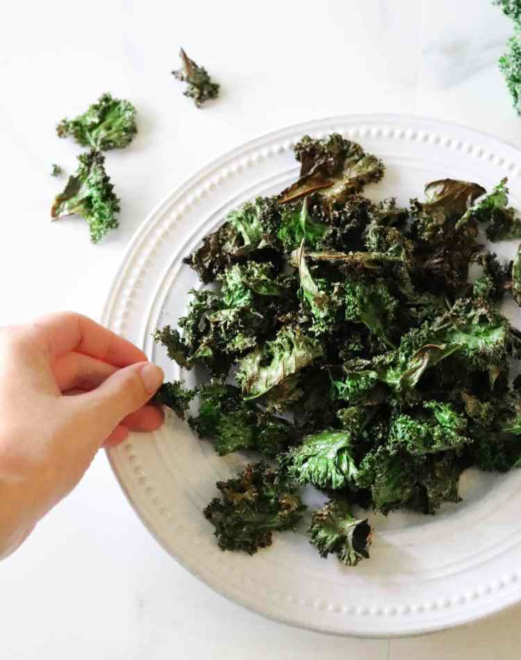 Crispy Sea Salt Kale Chips Recipe