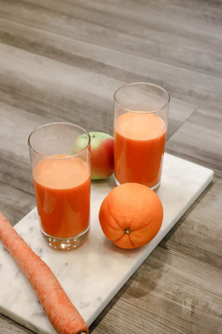 Glow Boosting Apple Carrot Juice Recipe