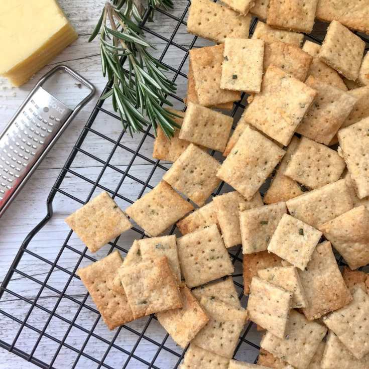 Parmesan and Rosemary Crackers