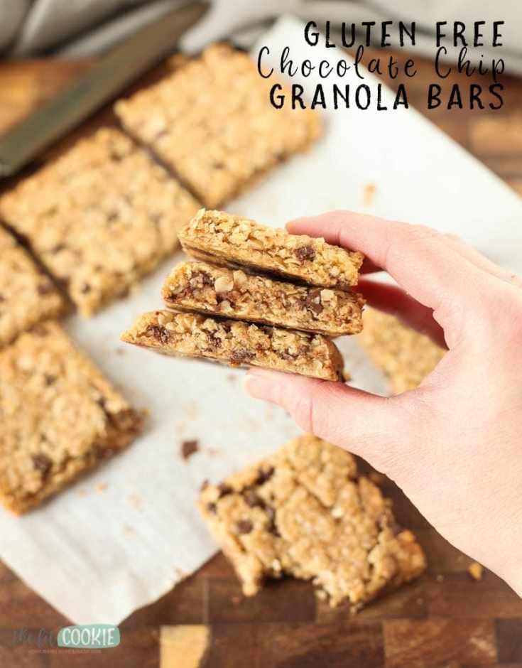 Gluten Free Chocolate Chip Granola Bars (Dairy Free)