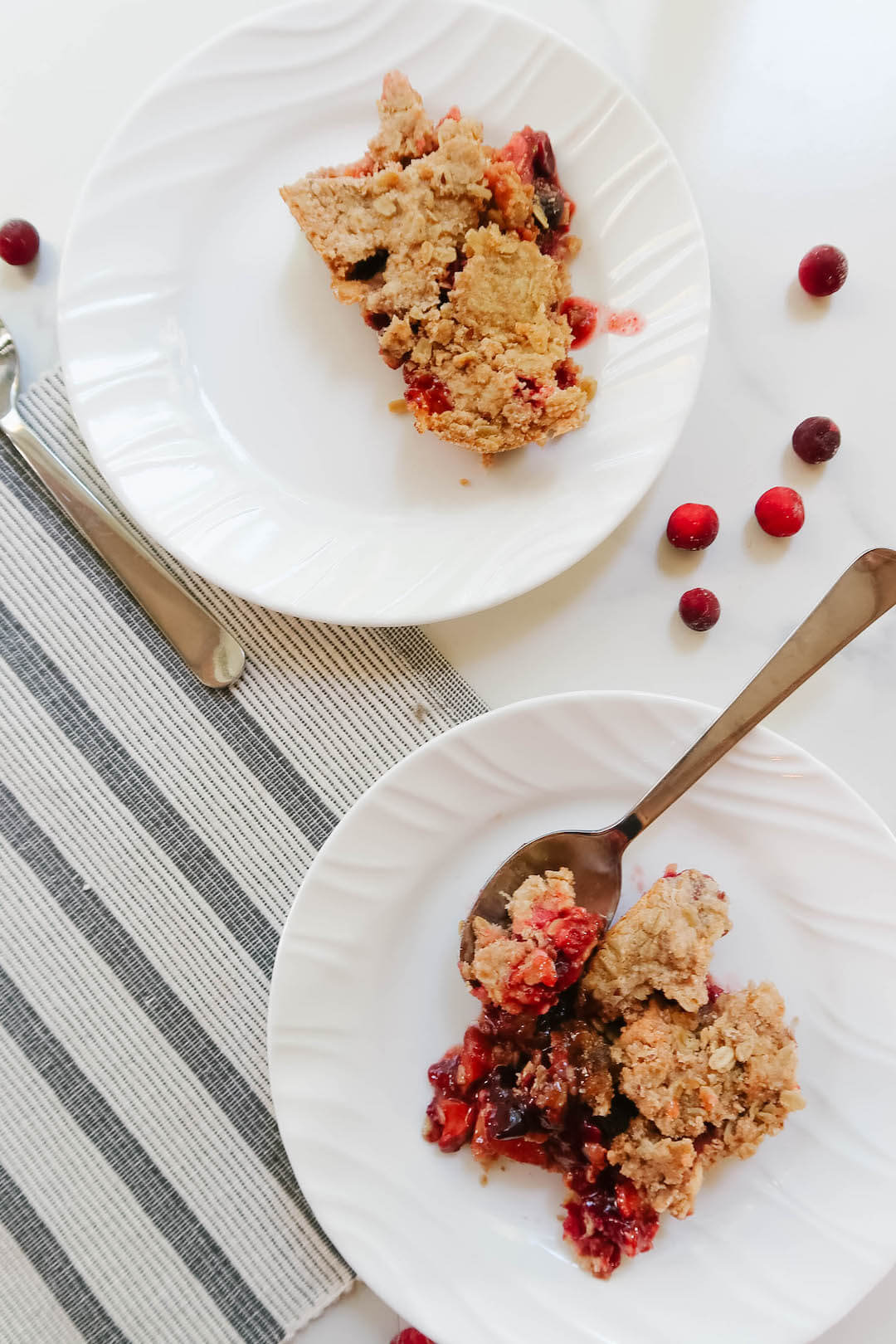 Easy Cranberry Crumble Recipe