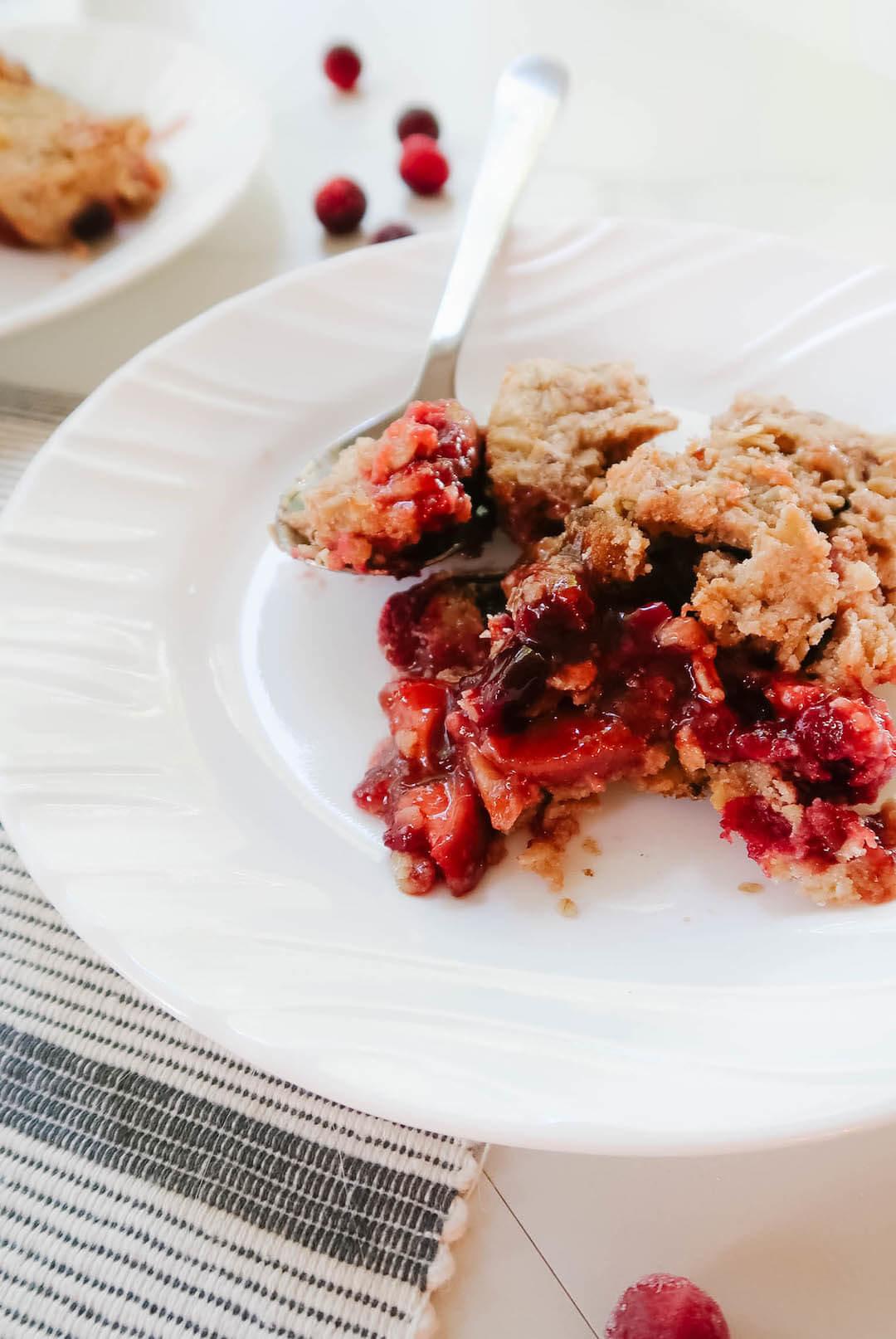 Cranberry Crumble Recipe