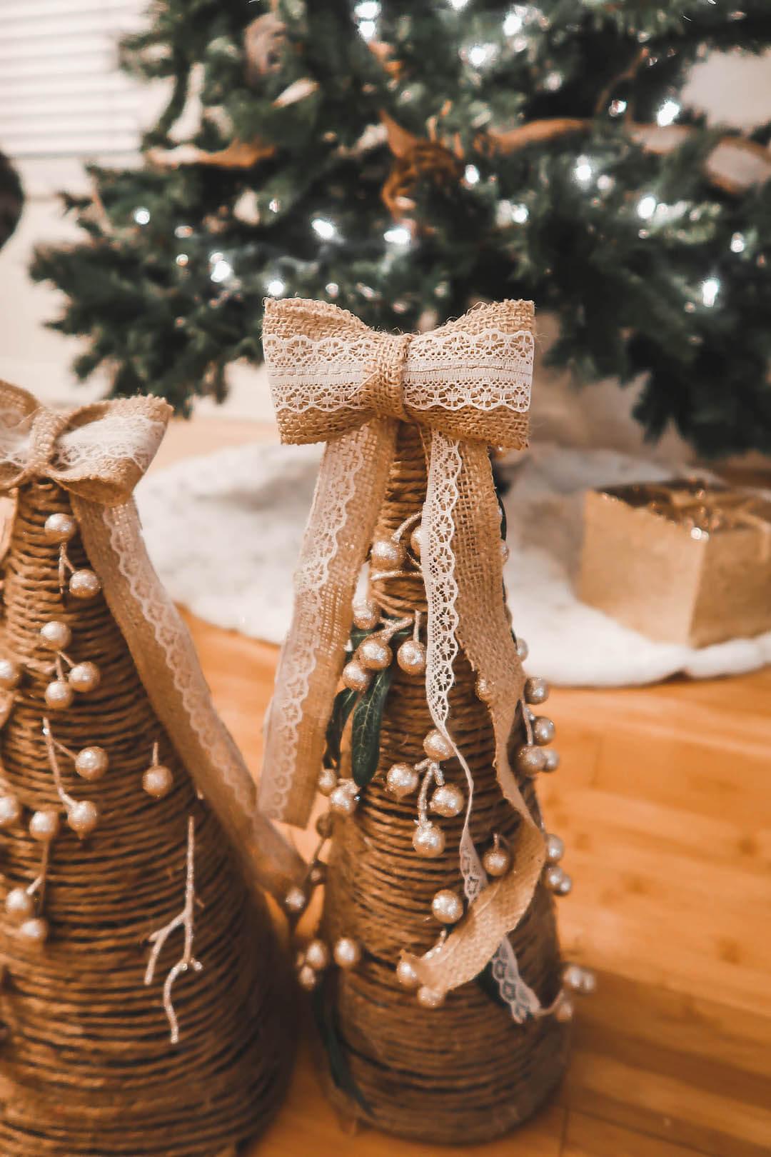 Homemade Christmas Cones