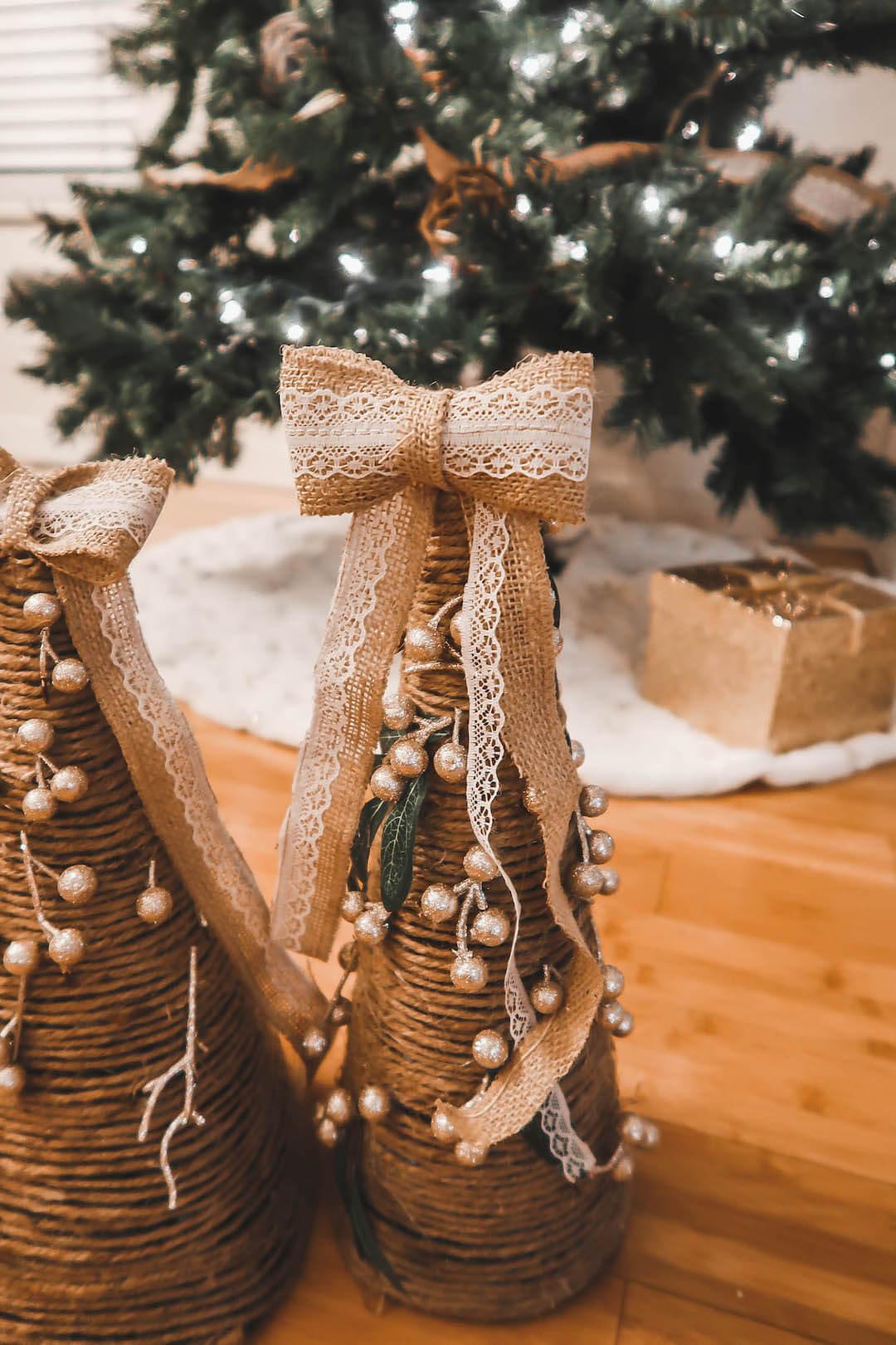 Farmhouse Christmas Cone Trees DIY