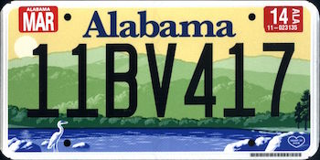 Image result for alabama license plates