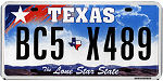 Image of the Texas state license.