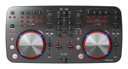 Pioneer DDJ ERGO top view Introducing the Pioneer DDJ ERGO
