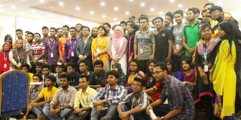 With the participants of Hands-on UX Workshop at Daffodil International University