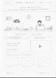 Sketch of Dev Skill landing page