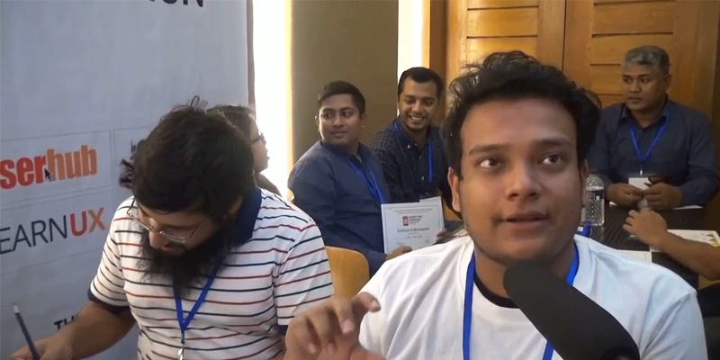 Participants' feedback on Country's first UX Bootcamp held in Dhaka