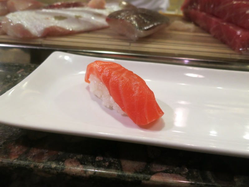 naked fish omakase nigiri marinated salmon